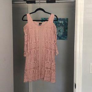 Blush Pink Off the Shoulder Dress